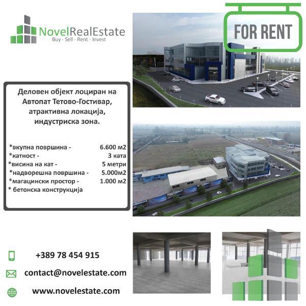 Comercial Building for rent in Skopje, Negotinska Petla - H0222