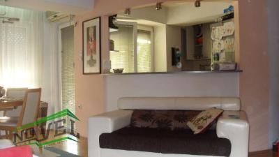 Се издава наместен стан во Скопје, Кисела Вода со површина од 75 m2.  Екстра: Централно Парно, Нова Зграда, Гаража.  Цена: 350 EUR